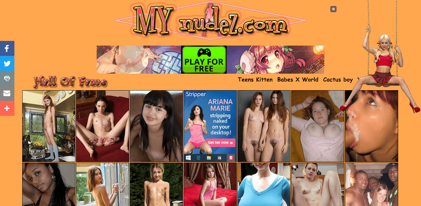 Screenshot mynudez.com