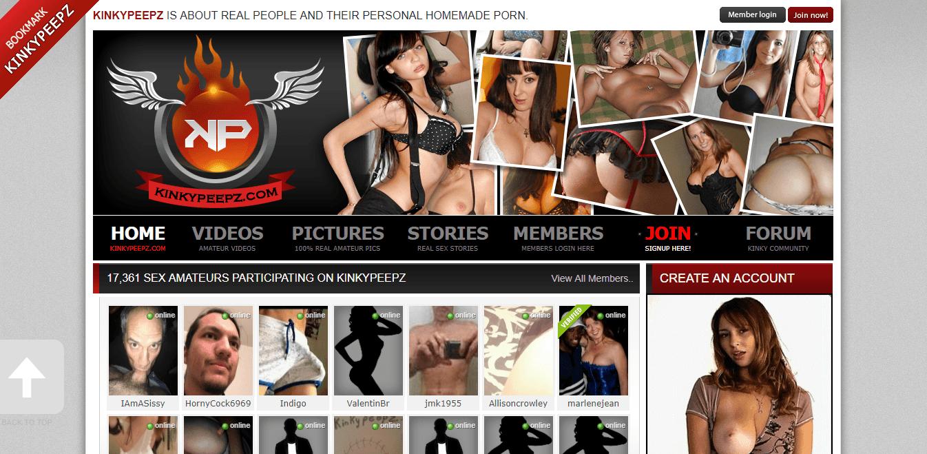 Screenshot kinkypeepz.com
