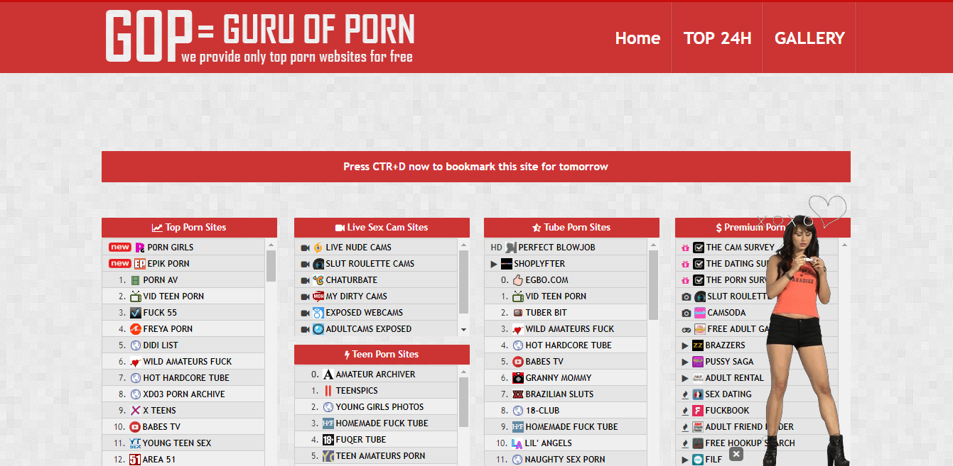Screenshot guruofporn.com