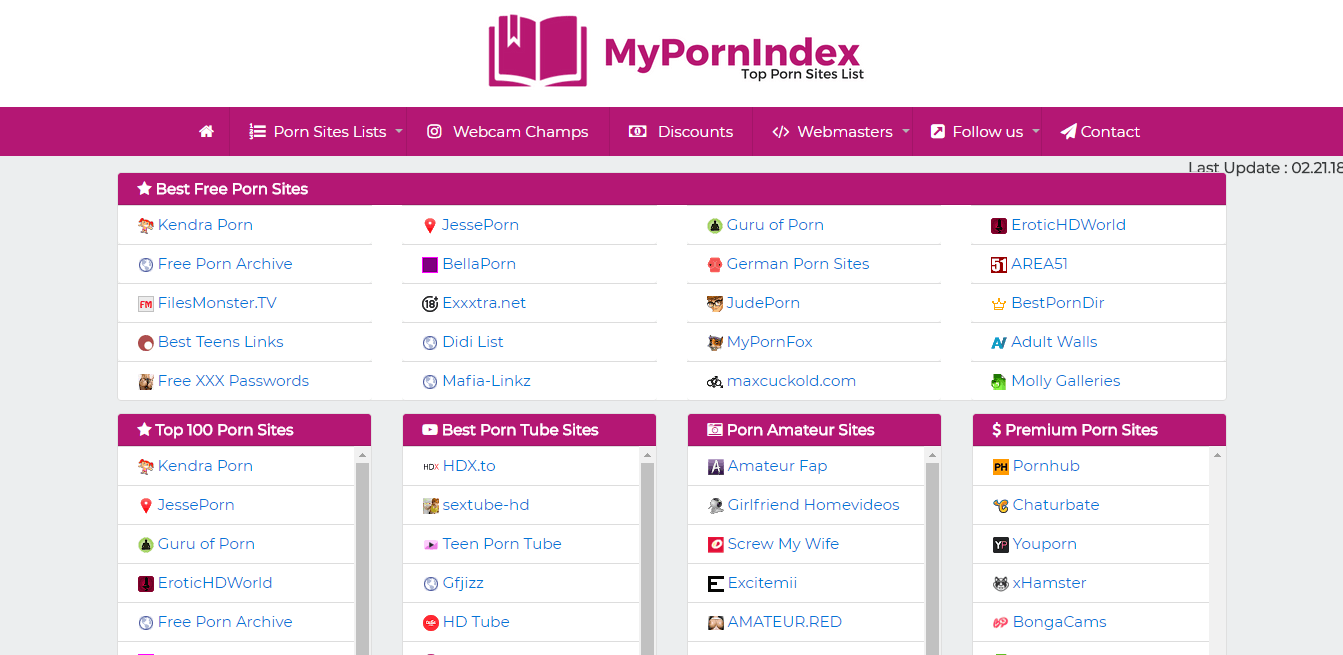 Screenshot mypornindex.com