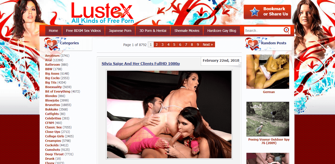 Screenshot lustex.net
