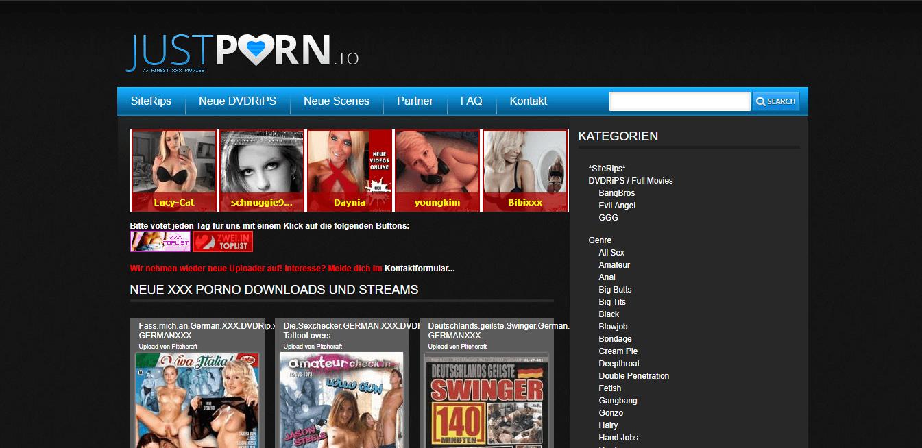 Screenshot justporn.to