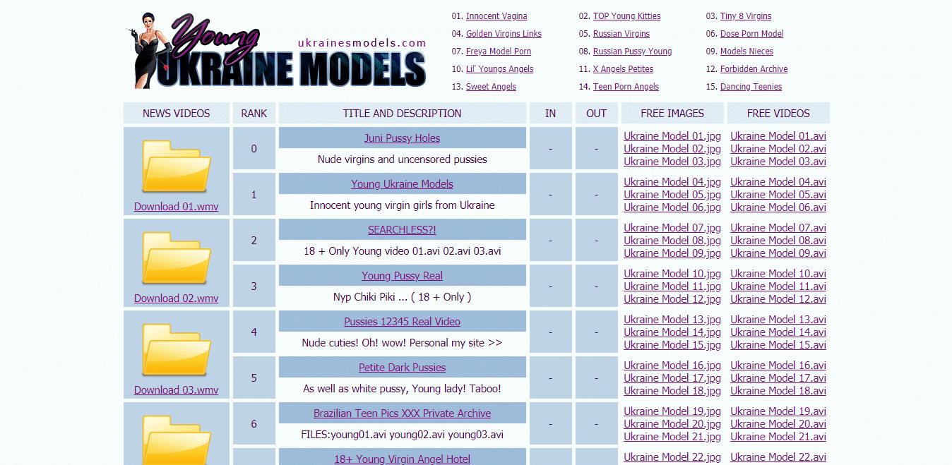 Screenshot ukrainesmodels.com