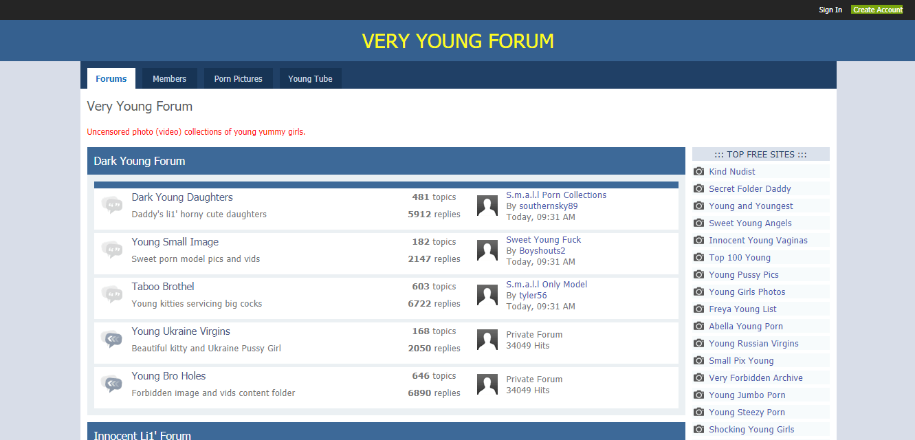 Screenshot young-forum.com