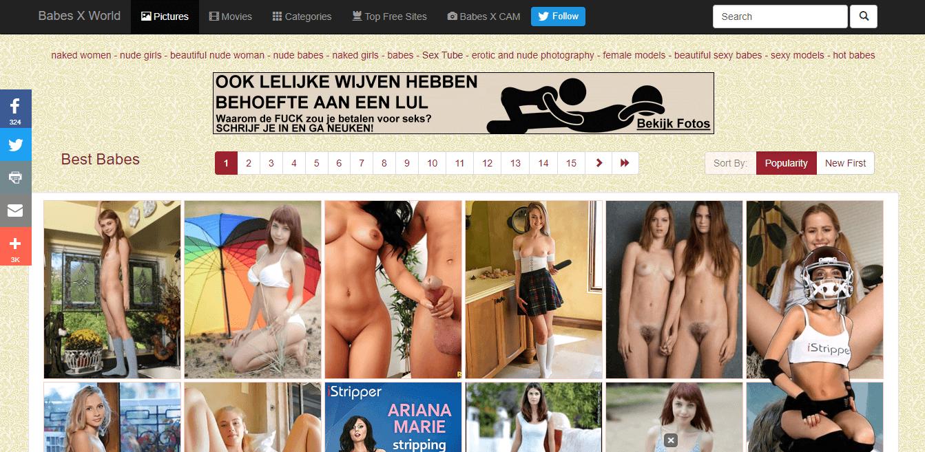 Screenshot babesxworld.com