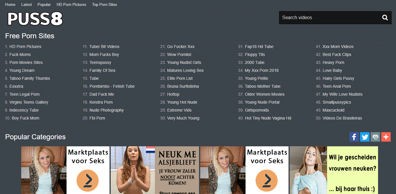 Screenshot puss8.com